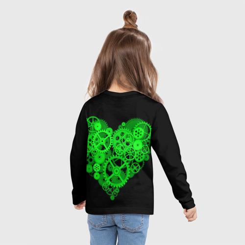Детский лонгслив 3D Механическое сердце Фото 01