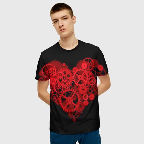 Мужская футболка 3D Механическое сердце Фото 01