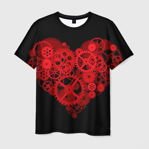 Мужская футболка 3D  Фото 03, Механическое сердце