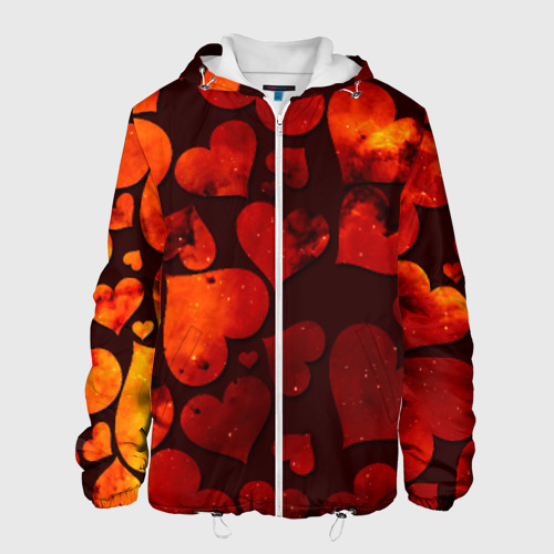 Мужская куртка 3D  Фото 01, Космические сердечки