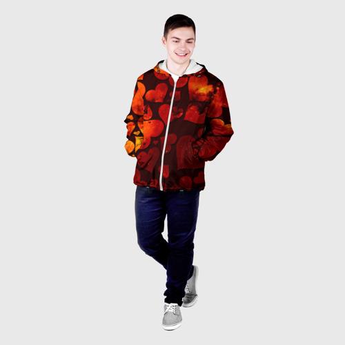 Мужская куртка 3D  Фото 03, Космические сердечки