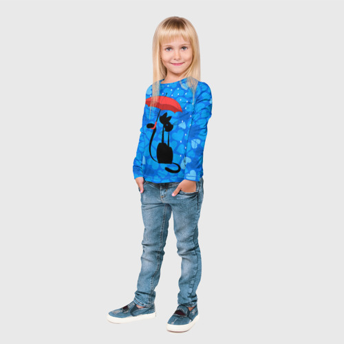 Детский лонгслив 3D  Фото 04, Под зонтом