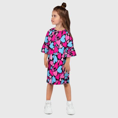 Детское платье 3D  Фото 03, Сердца