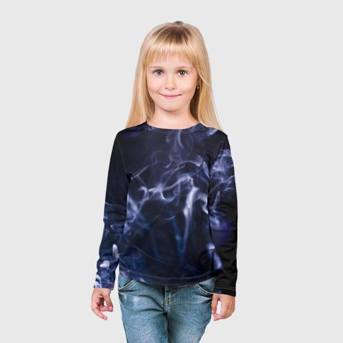 Детский лонгслив 3D  Фото 03, Синий дым