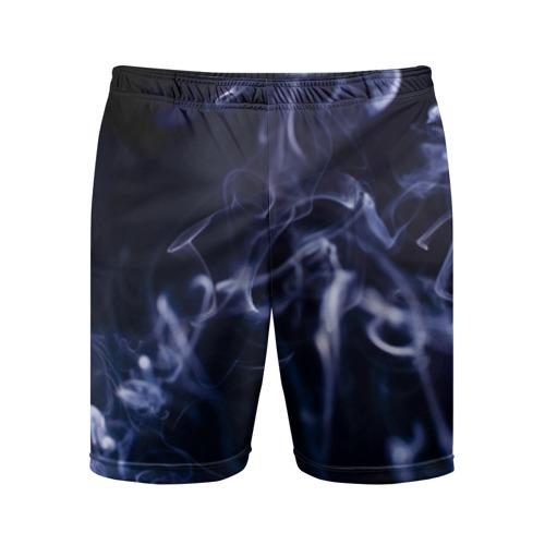 Мужские шорты 3D спортивные Синий дым