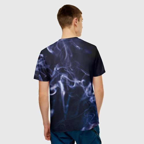 Мужская футболка 3D  Фото 02, Синий дым