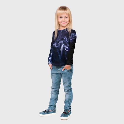 Детский лонгслив 3D  Фото 04, Синий дым