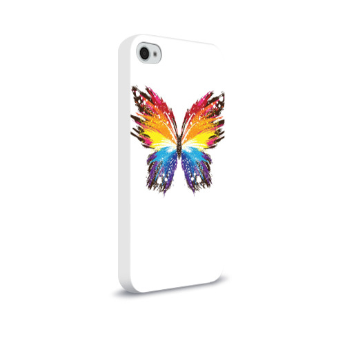 Чехол для Apple iPhone 4/4S soft-touch  Фото 02, Butterfly