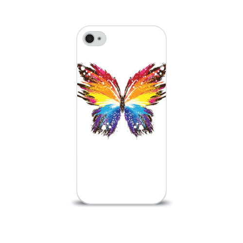 Чехол для Apple iPhone 4/4S soft-touch  Фото 01, Butterfly