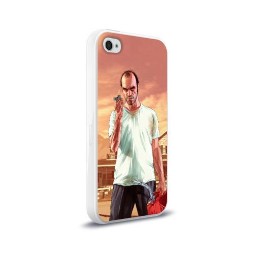 Чехол для Apple iPhone 4/4S силиконовый глянцевый  Фото 02, Тревор