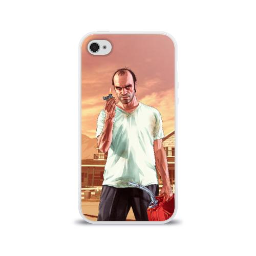 Чехол для Apple iPhone 4/4S силиконовый глянцевый  Фото 01, Тревор