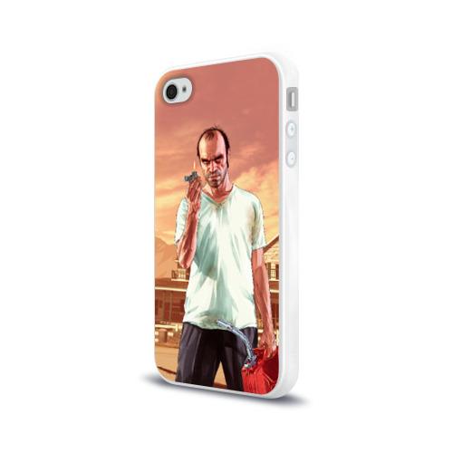 Чехол для Apple iPhone 4/4S силиконовый глянцевый  Фото 03, Тревор