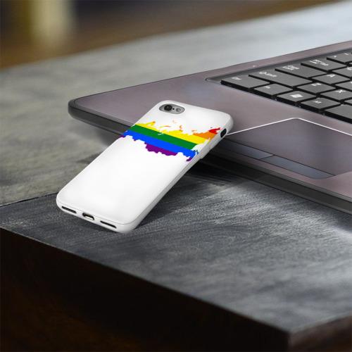 Чехол для Apple iPhone 8 силиконовый глянцевый  Фото 03, Радуга