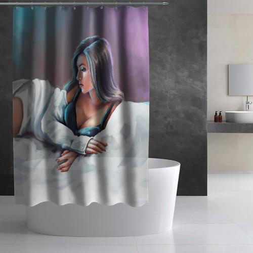 Штора 3D для ванной Olekseyproduction Няша Фото 01
