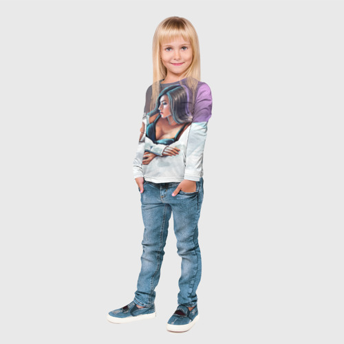 Детский лонгслив 3D  Фото 04, Olekseyproduction Няша