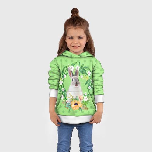 Детская толстовка 3D  Фото 01, винтажный зайка