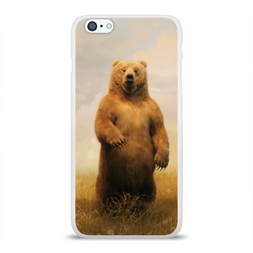 Чехол для Apple iPhone 6Plus/6SPlus силиконовый глянцевый  Фото 01, Медведь в поле