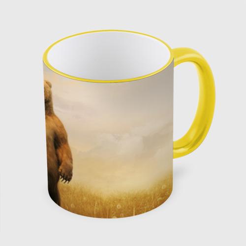 Кружка с полной запечаткой  Фото 01, Медведь в поле