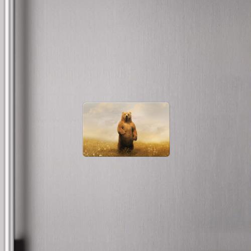 Магнит виниловый Visa  Фото 04, Медведь в поле