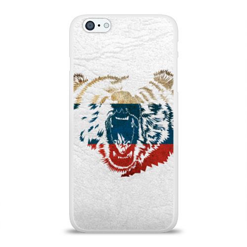 Чехол для Apple iPhone 6Plus/6SPlus силиконовый глянцевый  Фото 01, Russian Bear