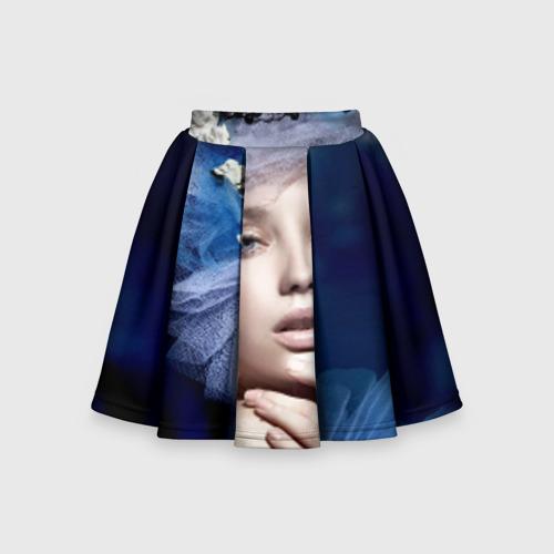 Детская юбка-солнце 3D Девушка в цветах