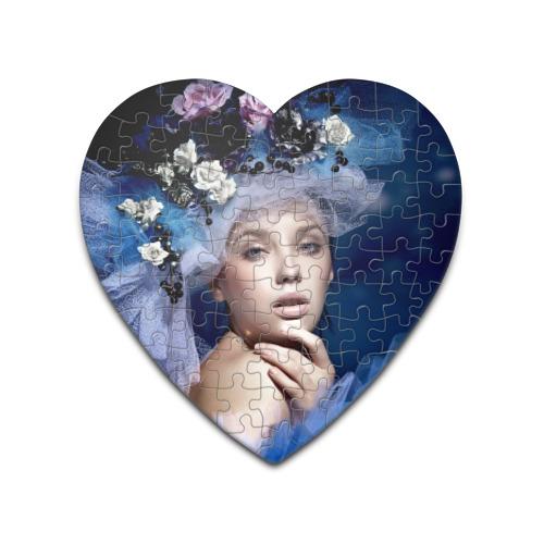 Пазл сердце 75 элементов  Фото 01, Девушка в цветах