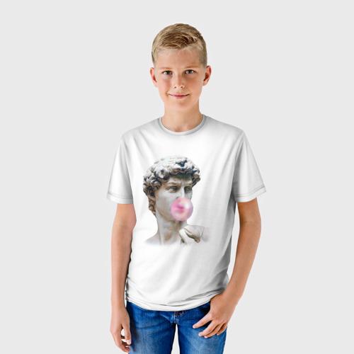 Детская футболка 3D Статуя любви