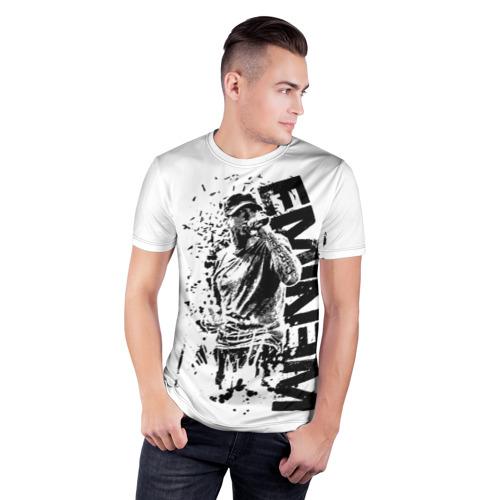 Мужская футболка 3D спортивная  Фото 03, Eminem