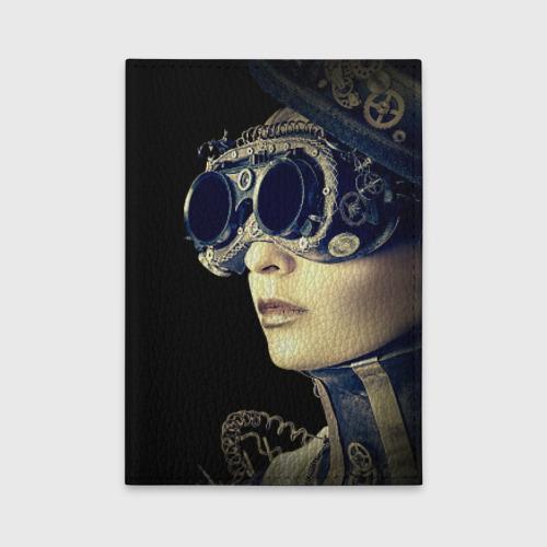 Обложка для автодокументов  Фото 01, Девушка steampunk