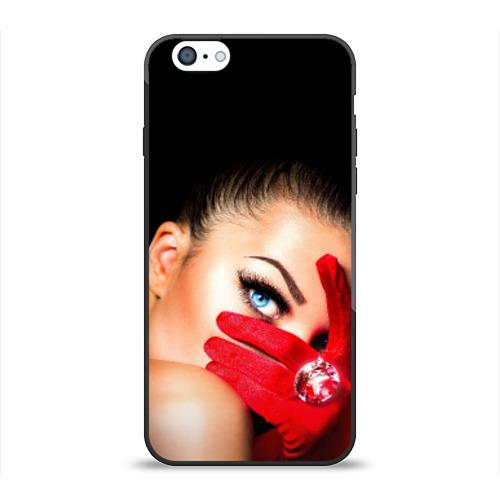 Чехол для Apple iPhone 6 силиконовый глянцевый Девушка с бриллиантом от Всемайки