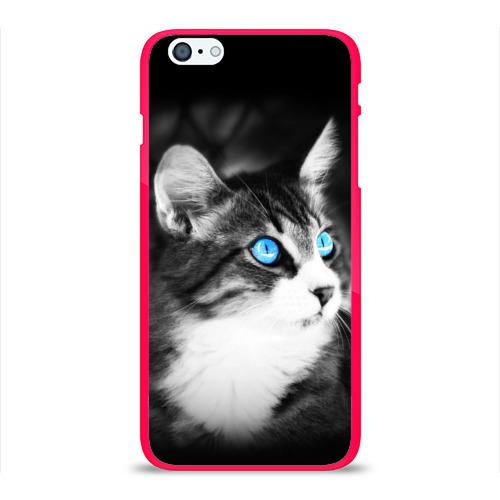 Чехол для Apple iPhone 6Plus/6SPlus силиконовый глянцевый Кот Фото 01