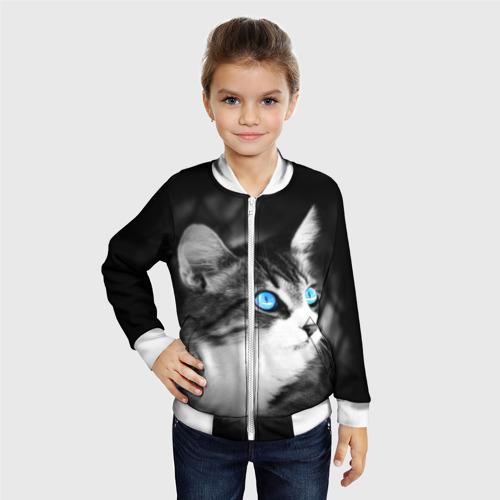 Детский бомбер 3D  Фото 06, Кот