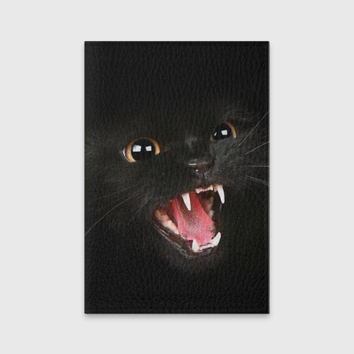 Обложка для паспорта матовая кожа  Фото 01, Черный кот