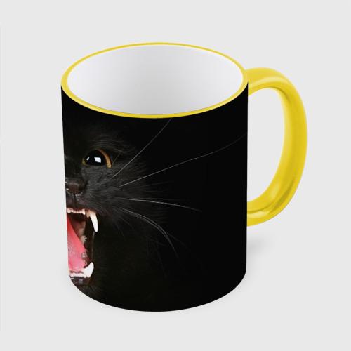 Кружка с полной запечаткой  Фото 01, Черный кот