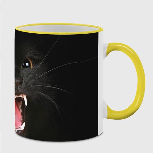 Кружка с полной запечаткой  Фото 02, Черный кот