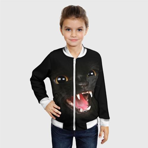 Детский бомбер 3D  Фото 06, Черный кот