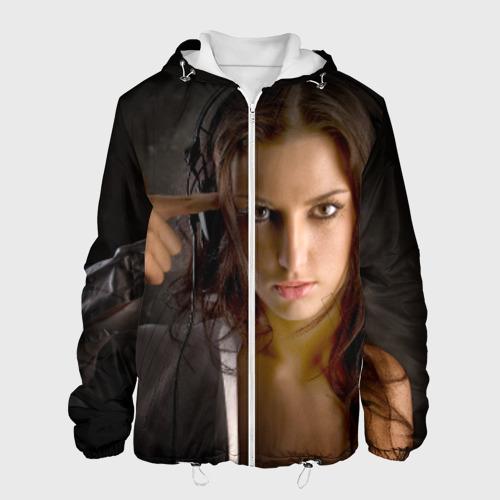 Мужская куртка 3D  Фото 01, Девушка в наушниках