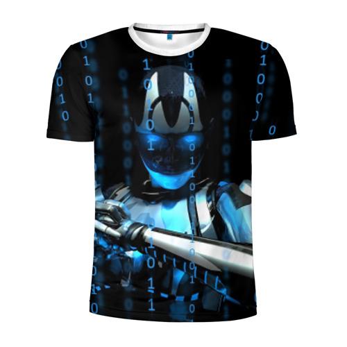 Мужская футболка 3D спортивная  Фото 01, Киборг
