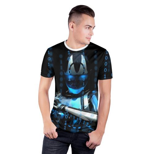 Мужская футболка 3D спортивная  Фото 03, Киборг