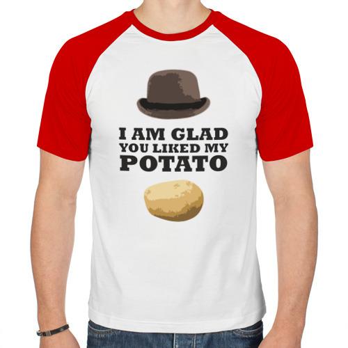 Мужская футболка реглан  Фото 01, I am glad you liked my potato