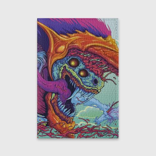 Обложка для паспорта матовая кожа  Фото 01, Hyper beast