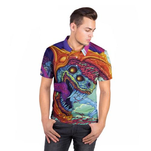 Мужская рубашка поло 3D  Фото 05, Hyper beast