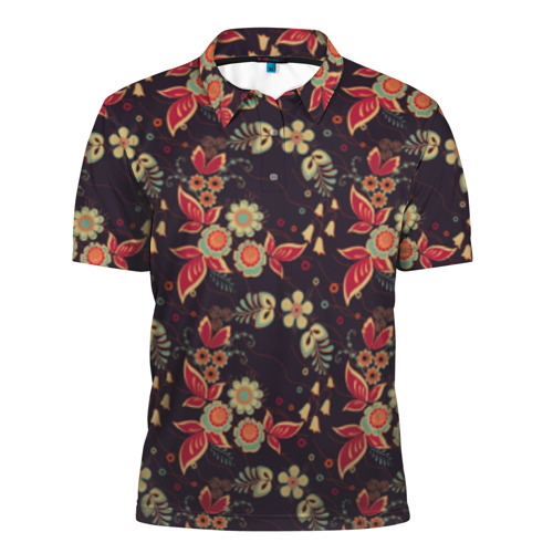Мужская рубашка поло 3D  Фото 01, Хохлома
