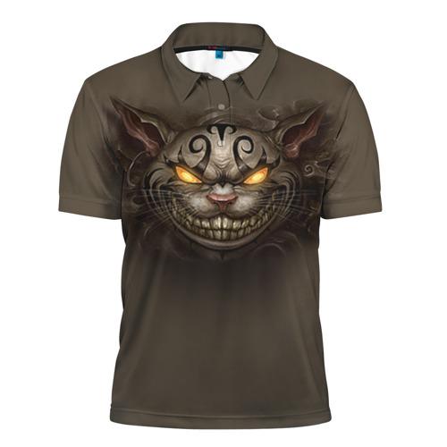 Мужская рубашка поло 3D Чеширский кот 6