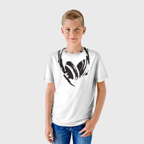 Детская футболка 3D  Фото 01, Наушники