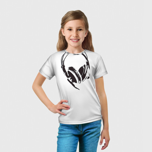 Детская футболка 3D  Фото 03, Наушники
