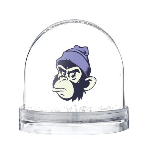 Водяной шар со снегом  Фото 01, Обезьяна в шапке