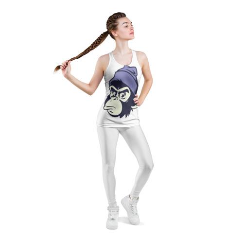 Женская майка 3D спортивная Обезьяна в шапке Фото 01