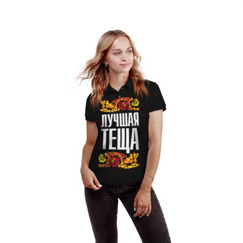 Женская рубашка поло 3D  Фото 03, Лучшая тёща