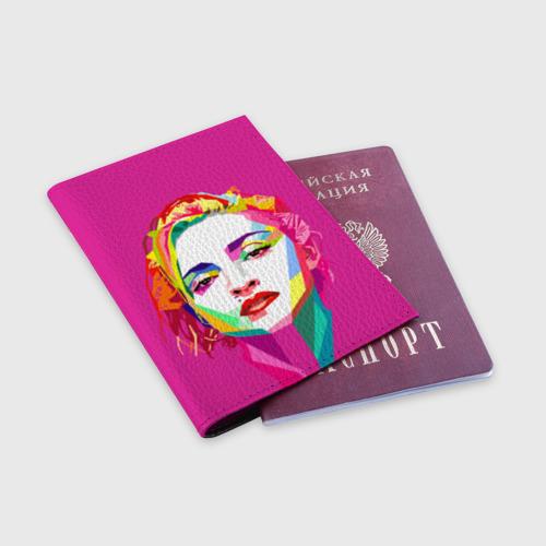 Обложка для паспорта матовая кожа  Фото 03, Мадонна